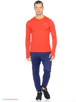 Брюки Nike. Цвет: синий, оранжевый