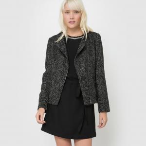 Пальто короткое меланж DAVE SUNCOO. Цвет: черный меланж