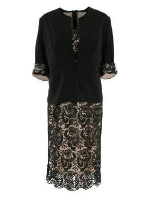Костюм: платье и жакет Elena Miro. Цвет: черный