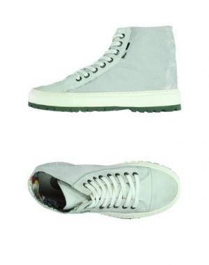 Высокие кеды и кроссовки YAB. Цвет: серебристый