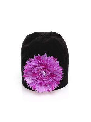 Шапка Jane Flo. Цвет: черный, фиолетовый