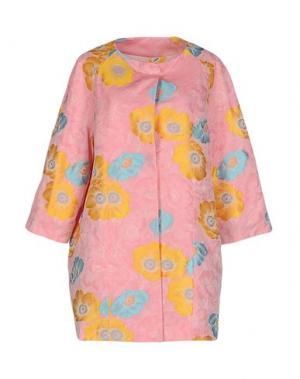 Легкое пальто FEMME by MICHELE ROSSI. Цвет: розовый