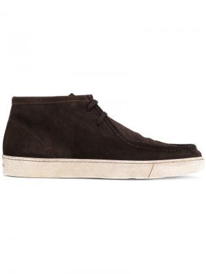 Классические туфли со шнуровкой Santoni. Цвет: коричневый