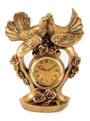 Часы настольные Голуби Русские подарки. Цвет: бронзовый