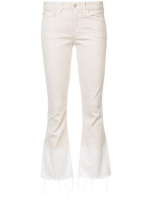 Укороченные слегка расклешенные джинсы Derek Lam 10 Crosby. Цвет: белый