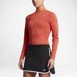 Женская футболка для гольфа с половинной молнией  Zonal Cooling Dry Knit Nike. Цвет: оранжевый