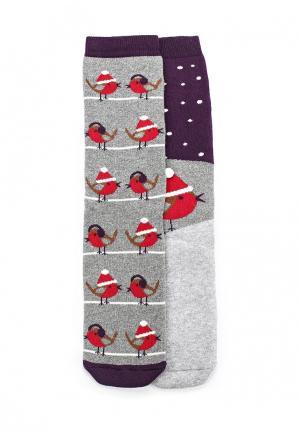 Комплект носков 2 пары Dorothy Perkins. Цвет: серый