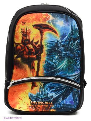 Рюкзак PROFF. Цвет: черный, синий, оранжевый