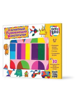 Магнитный развивающий конструктор, 30 деталей Kribly Boo. Цвет: розовый, желтый, синий, зеленый, голубой, оранжевый