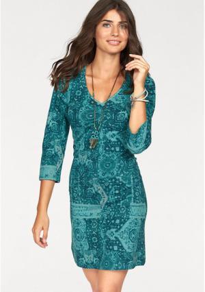 Платье BOYSENS BOYSEN'S. Цвет: бирюзовый/зелено-синий
