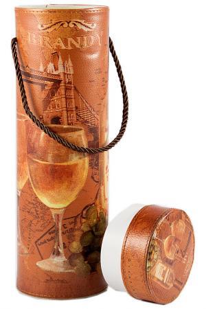Шкатулка 10х10х33см Русские подарки. Цвет: оранжевый