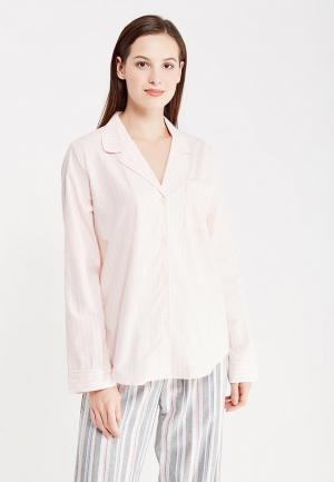 Рубашка домашняя Gap. Цвет: розовый