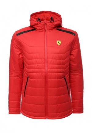 Куртка утепленная Puma. Цвет: красный