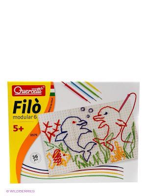 Набор для вышивания из модулей Фило Quercetti. Цвет: белый, голубой, красный