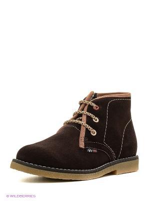 Ботинки ELEGAMI. Цвет: темно-коричневый