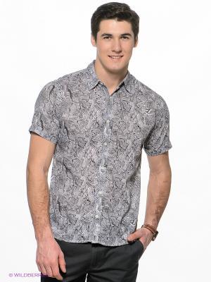 Рубашка Mavango. Цвет: черный, белый