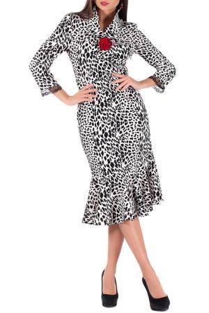 Платье Mannon. Цвет: черно-белый