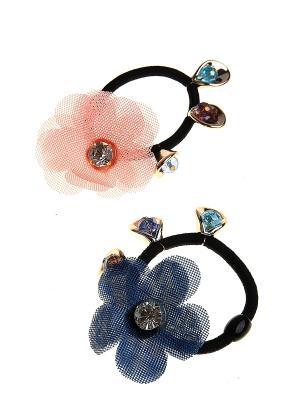 Комплект (Резинка-2 шт.) Migura. Цвет: черный, синий, розовый, золотистый