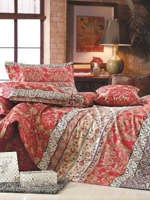 Комплект постельного белья ДУЭТ сатин, рисунок 682 LA NOCHE DEL AMOR. Цвет: красный