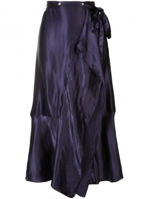 Плиссированная юбка Nina Ricci. Цвет: розовый и фиолетовый