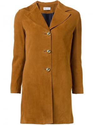 Замшевая куртка на пуговицах Beau Souci. Цвет: коричневый
