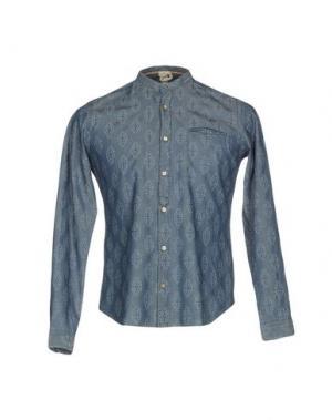 Джинсовая рубашка DNL. Цвет: синий