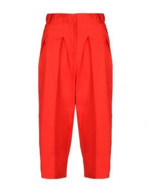 Повседневные брюки LOVEBIRDS. Цвет: красный