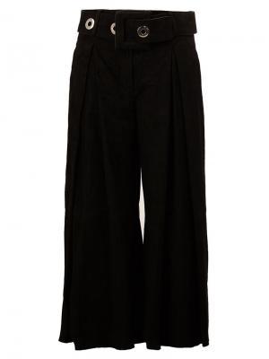 Укороченные брюки с поясом Drome. Цвет: чёрный