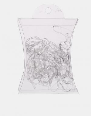 ASOS Набор из 100 резинок для волос No More Snags. Цвет: прозрачный