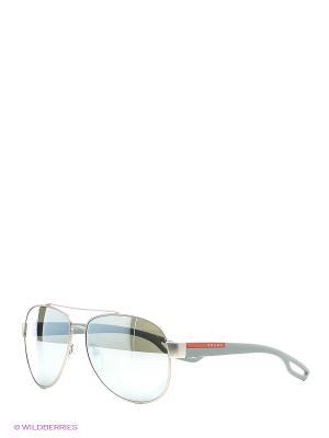 Солнцезащитные очки Prada Linea Rossa. Цвет: серебристый