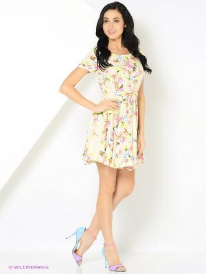 Платье с поясом бежевое MONOROOM