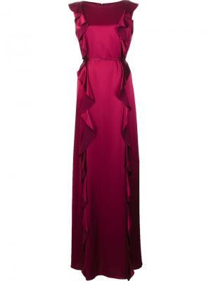 Длинное платье Jojo Zac Posen. Цвет: розовый и фиолетовый