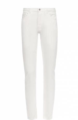 Джинсы прямого кроя из эластичного хлопка Valentino. Цвет: белый