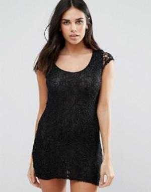 Jasmine Облегающее кружевное платье. Цвет: черный