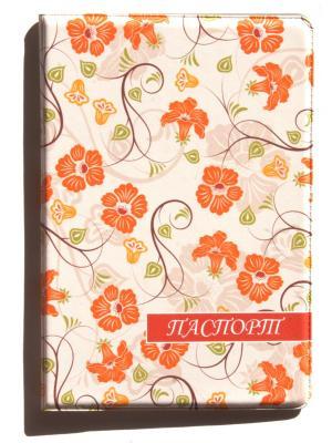Обложка для паспорта Lola. Цвет: бежевый, оранжевый