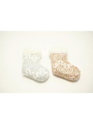 Гламур Подвеска 11см, пластик, текстиль, 6 дизайнов СНОУБУМ. Цвет: серебристый