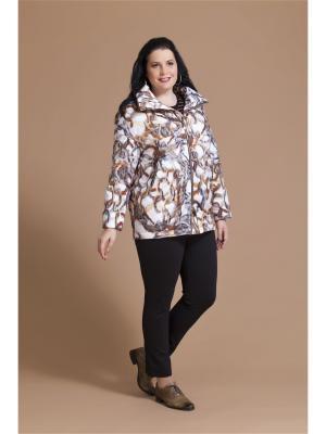 Куртка AVERI. Цвет: серый, коричневый, темно-бежевый, молочный