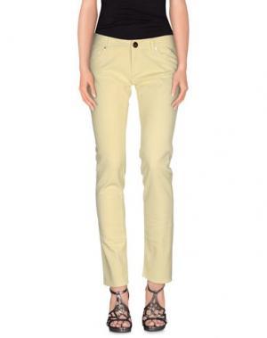 Джинсовые брюки ATELIER FIXDESIGN. Цвет: светло-желтый