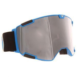 Маска для сноуборда  Crew Nw Icon + Bonus Lense Matte Iris Blue Silver Smoke I/S Eyewear. Цвет: синий,черный,серый