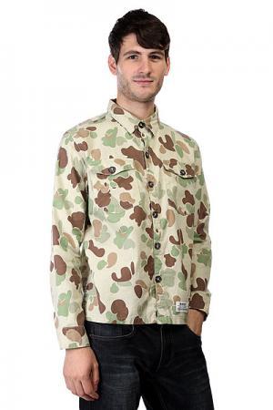 Рубашка  Osama Bin Smokin Kool G Khaki Insight. Цвет: бежевый,зеленый,коричневый,камуфляжный