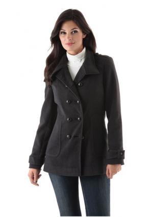 Пальто Aniston. Цвет: темно-серый