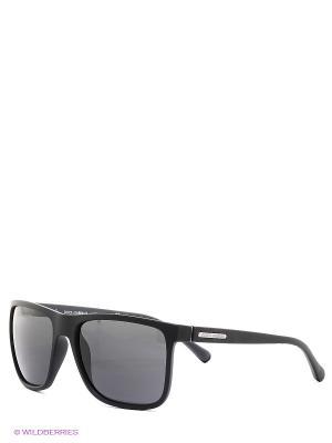 Очки солнцезащитные OVER-MOLDED RUBEBR DOLCE & GABBANA. Цвет: черный
