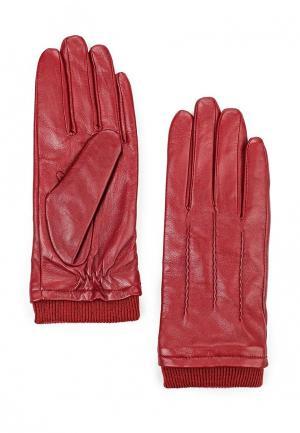 Перчатки Bata. Цвет: бордовый