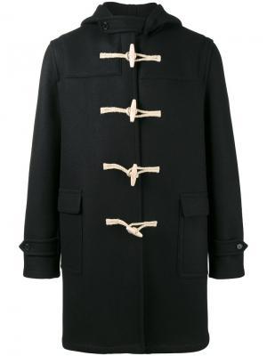 Классическое пальто-дафлкот Saint Laurent. Цвет: чёрный