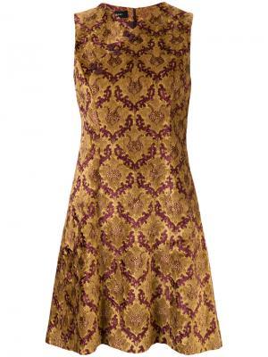 Короткое платье с принтом G.V.G.V.. Цвет: жёлтый и оранжевый