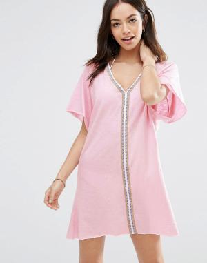Pitusa Платье мини Pima. Цвет: розовый