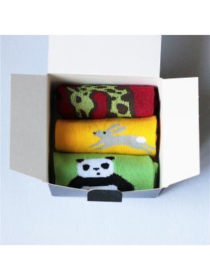 Набор носков, укороченные, 3 пары Big Bang Socks. Цвет: бордовый, красный, желтый, салатовый
