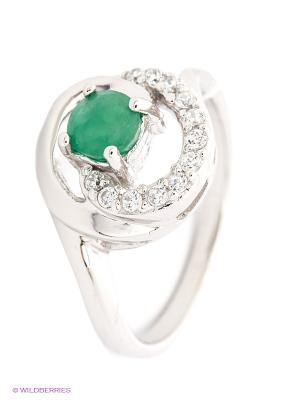 Кольцо Silver Wings. Цвет: серебристый, зеленый