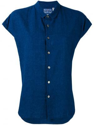 Рубашка с короткими рукавами Blue Japan. Цвет: синий