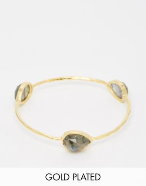 Taara Jewellery Позолоченный браслет. Цвет: лабрадор